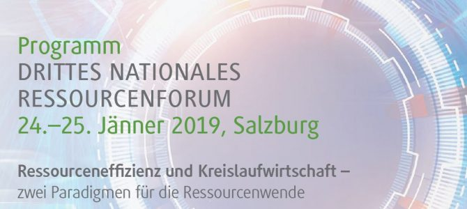 Einladung | Drittes Nationales Ressourcenforum